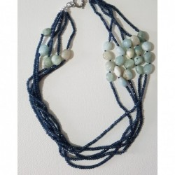 4 fili di perle di varia...