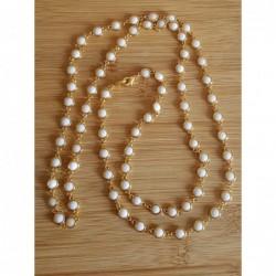 Girocollo 5 fili perle,...
